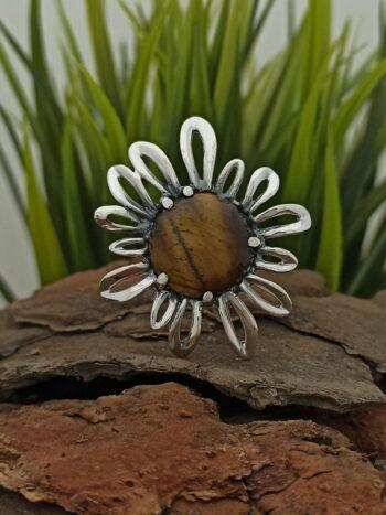 Сребърен пръстен с тигрово око 884RT студио николас