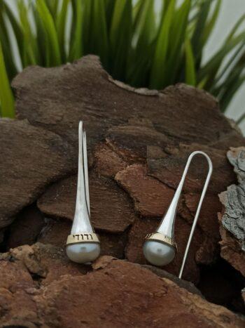 обеци с перла