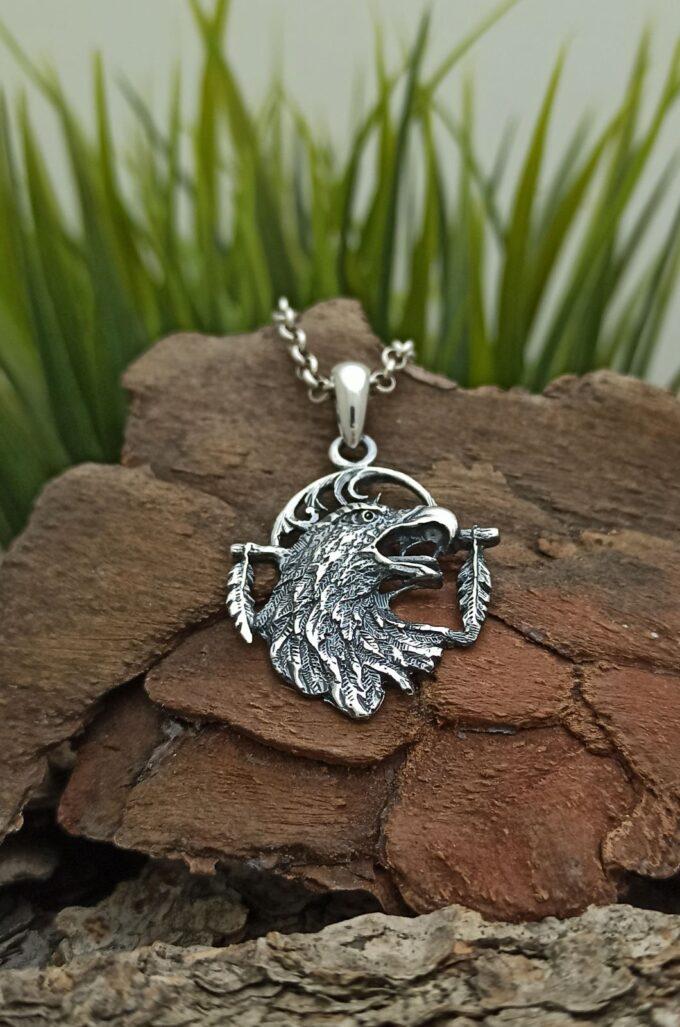медальон-сребро-планински-орел-унисекс-сребърен-медальон-орел-николас