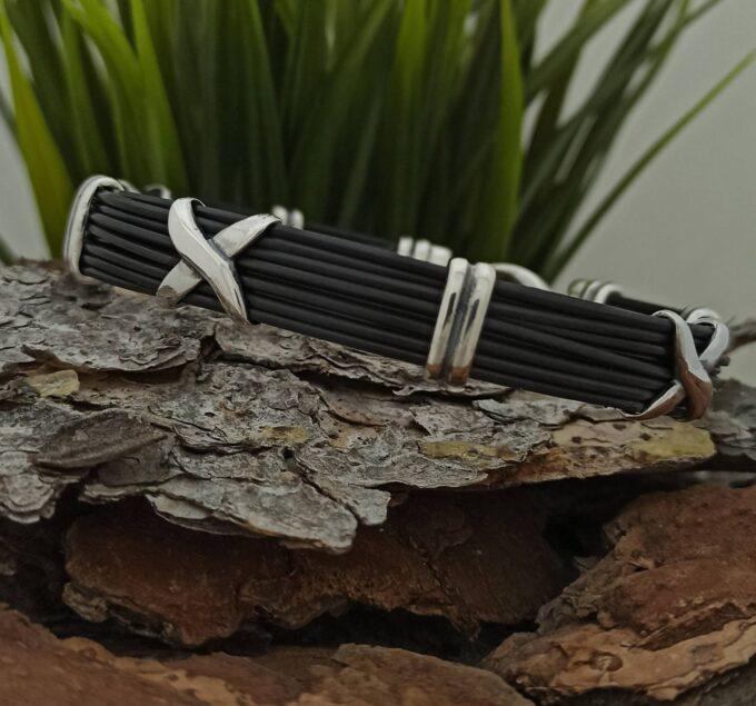мъжка-сребърна-гривна-с-корда-студио-николас-сребро-925