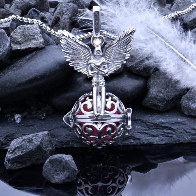 damski-srebaren-medalon-vikach-na-angeli-visulka-srebro-angel-pazitel-4an-studio-nikolas 6