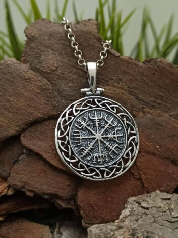 masiven-srebaren-medalion-vegvizir-islandski-vikingski-komplas-1411m-studio-nikolas-viking-jewelry