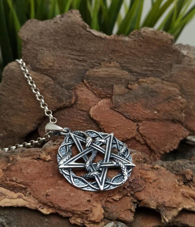 unisex-srebyren-medalion-1295m-pentagram-studio-nikolas