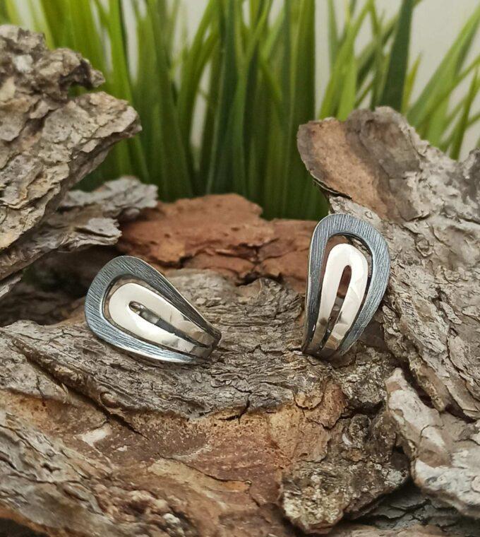 Дамски сребърни обеци ФИБА 579E бижутерия николас