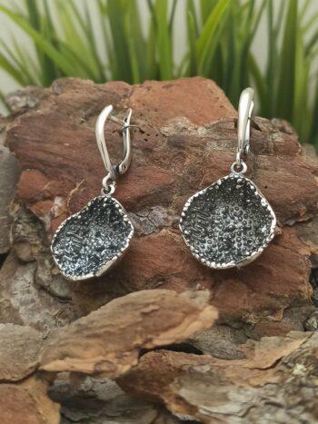 Дамски сребърни обеци с кръгла форма 1403E прецизна ръчна изработка отСтудио Николас