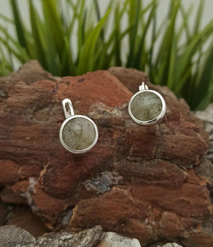 Сребърни обеци с лабрадорит 1442EL студио николас
