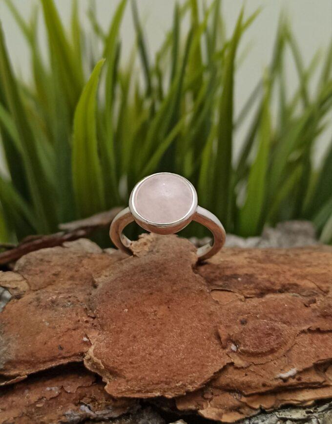 Сребърен пръстен с розов кварц 1441RC Студио Николас