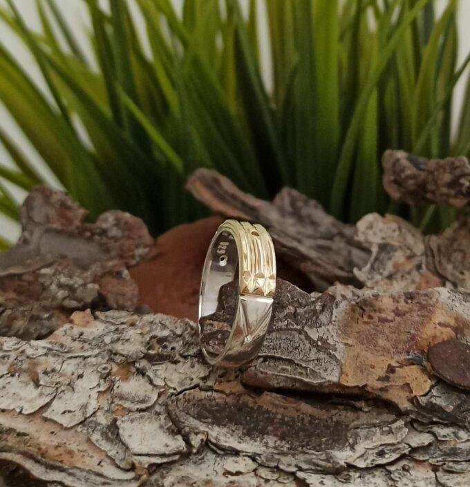 srebaren-prysten-s-14-karatovo-zlato-prystena-na-atlantida-amulet-studio-nikolas-atlantis-ring