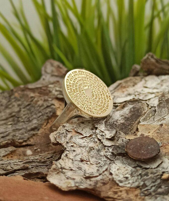 кабала златен пръстен Колело с 72-те Имена на Бог студио николас